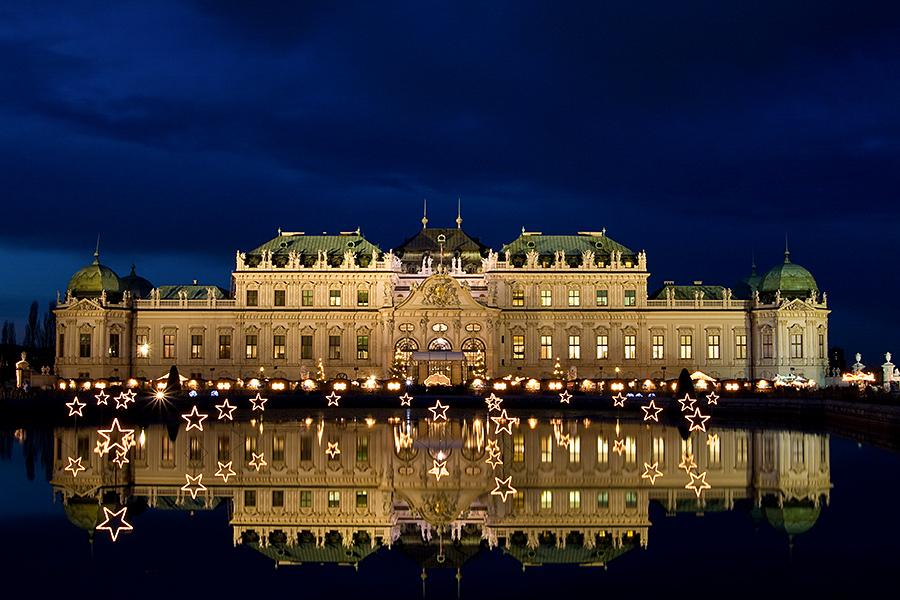 Weihnachtsstimmung am Schloß Belvedere